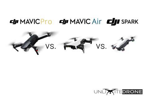 mavic pro  mavic air  spark dji drone