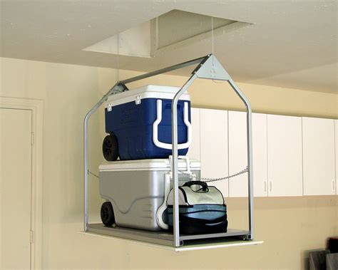 Garage Storage Lift Awesome Attic Storage Lift 9 Garage Attic Storage Ideas
