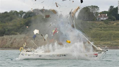 blow up sailboat blown up capzised set on fire world s unluckiest boat