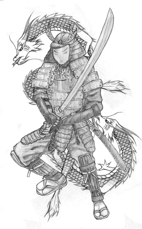 dragon warrior tattoo designs samurai warrior www pixshark images