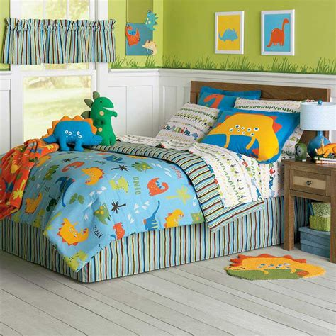boy toddler bedding dinosaur bed