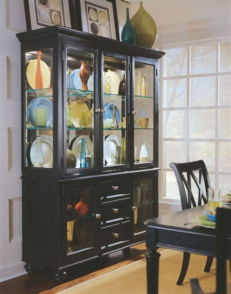 black china cabinet with glass doors camden black china cabinet from american drew 919 830r