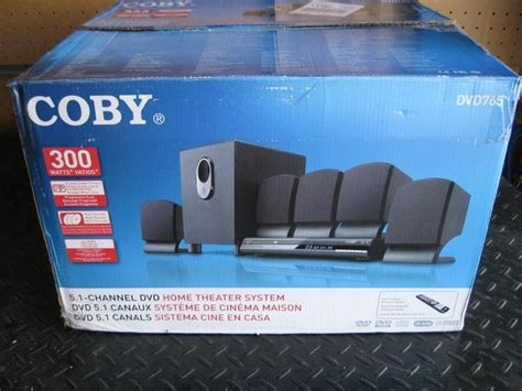 coby dvd765 5 1 channel dvd home theater system black