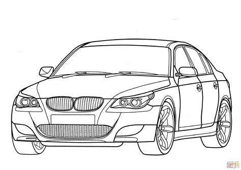 coloring pages bmw car bmw m5 e60 coloring page free printable coloring pages
