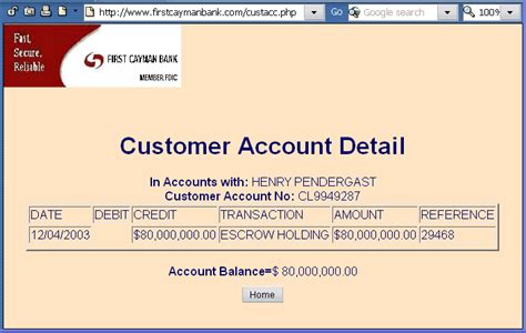 bank account details do these things spoof the 419 scam