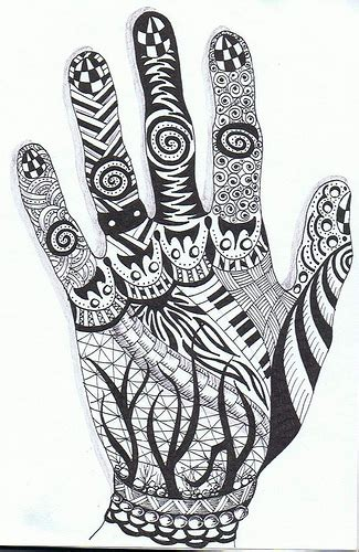 hand pattern art lesson zentangle hands a gallery on flickr