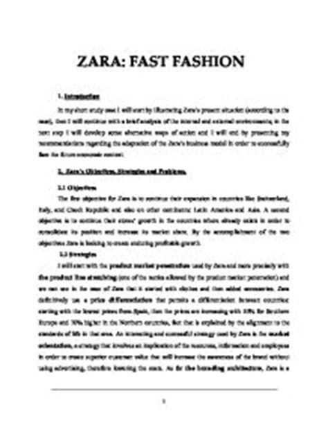 Supply Chain Management Resume Sample by Zara Case Study Zaras Objectives Strategies And Problems