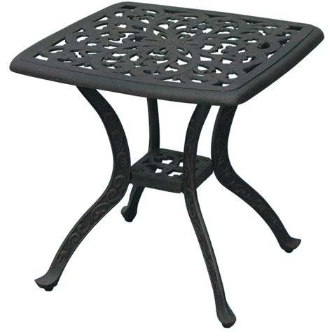 cast aluminum patio table and chairs darlee series cast aluminum patio end table square