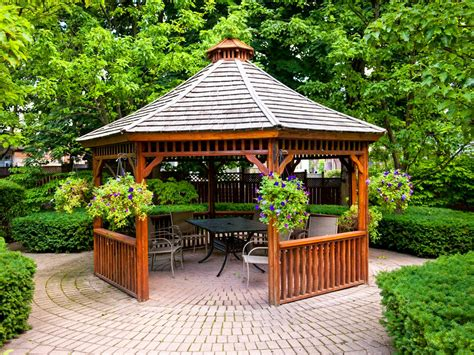 gazebo in garden patio gazebos hgtv