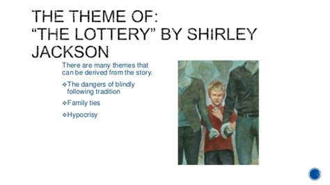 themes in the story the lottery elements of a short story theme