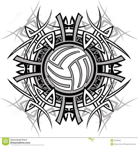 clipart pallavolo marchio tribale di vettore di pallavolo illustrazione di