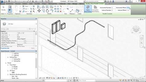 revit conduit tutorial electrical add and modify conduit