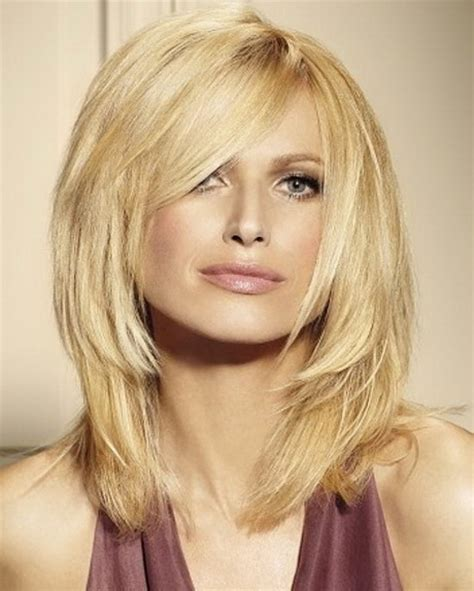google images mid length styles medium length haircuts with side bangs and layers