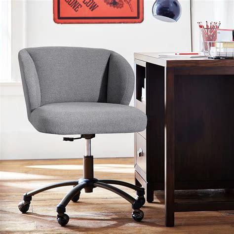 highlands gray wingback desk chair pbteen