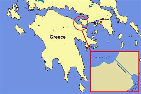 map of corinth tour in greece