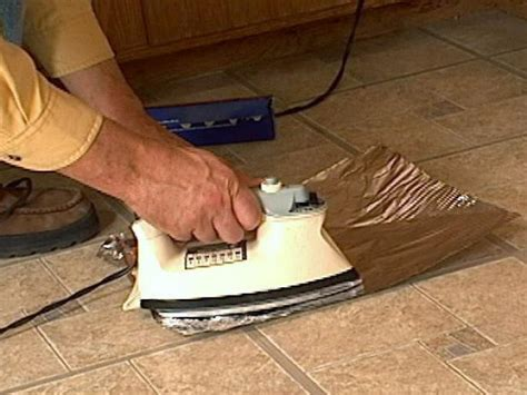Vinyl Floor Repair How To Fix Curling Vinyl Floor Tile How Tos Diy