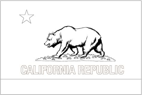 California Outline Flag California Flag Coloring Page