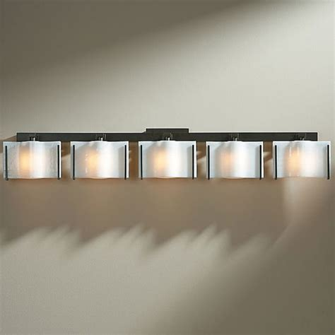Bathroom Bar Lights - exos wave 5 light bath bar modern bathroom vanity lighting