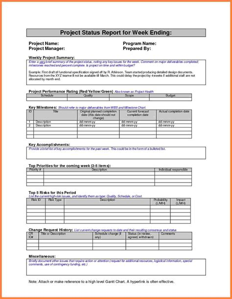 progress report template 8 weekly progress report template project management