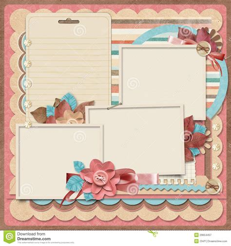 Retro Family Album 365 Project Scrapbooking Templates Royalty Best Scrapbooks Ever Scrapbook Free Templates