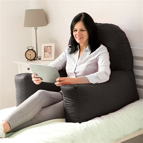 bed reading pillows chloe bed reading bean bag cushion arm rest back support