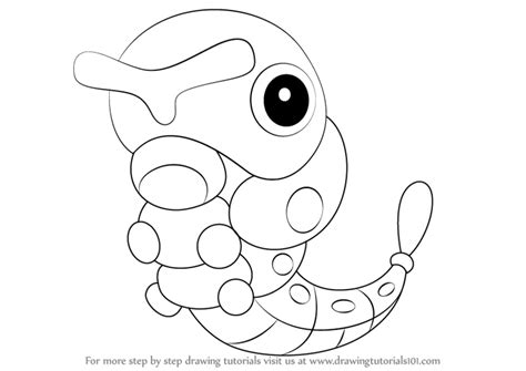 pokemon coloring pages caterpie learn how to draw caterpie from pokemon pokemon step by