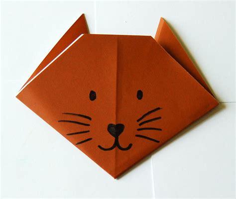 Paper Folding Cat - make an origami cat bookworm