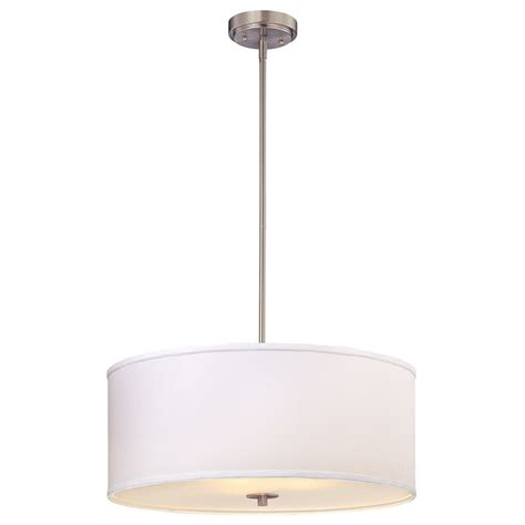 Large Drum Pendant Light Large Modern Drum Pendant Light With White Shade Ebay