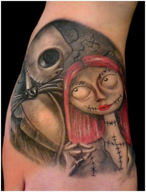 jack skellington and sally tattoos 35 nightmare before design