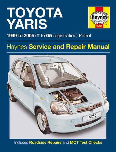 toyota yaris echo petrol 1999 2005 haynes owners service repair manual 1844252655