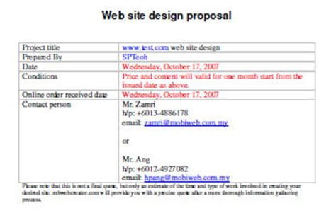 website design proposal sle free useful web design proposal resources tools and apps