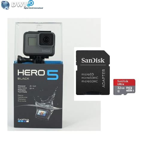 brand new gopro hd hero 5 hero5 black edition action camera 32gb micro sd card - Gopro Gift Card