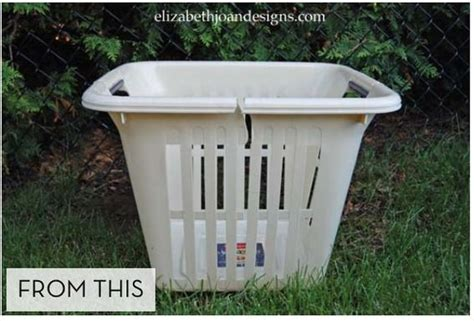 homemade planters how to turn an old laundry basket into a new big planter creative planters and the road