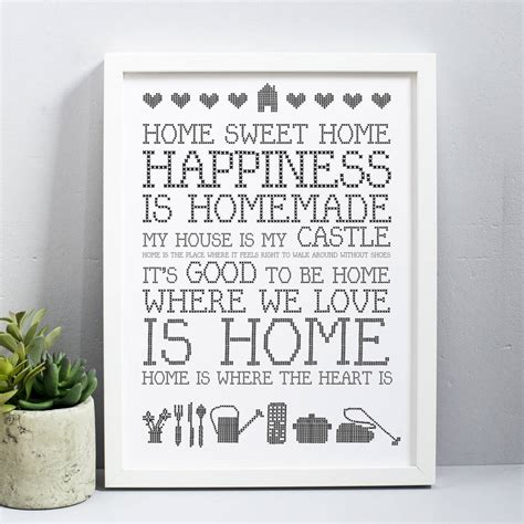 Sweet Home home sweet home print by karin 197 kesson design