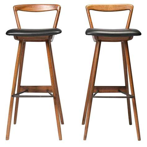 Hansen Teak Bar Stools by Mid Century Modern Teak Barstools By Rosengren Hansen