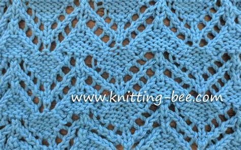 zig zag eyelet trellis pattern zig zag eyelet free knitting stitch knitting bee