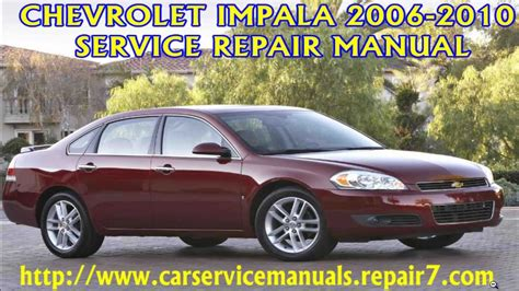 factory service manual chevrolet impala 2006 2007 2008 2009 2010 autos reparacion mecanica manual de reparacion de autos autos post