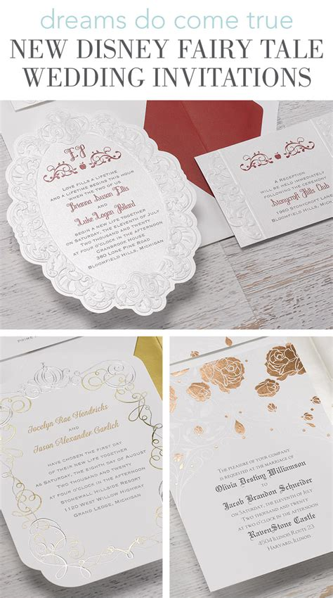 tale themed wedding invitations new disney tale wedding invitations