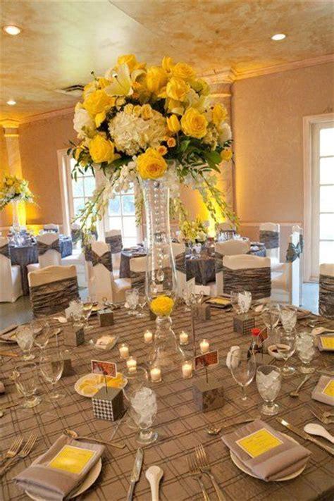 black yellow weddingsreception images  pinterest