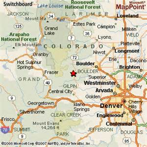 map of nederland colorado nederland colorado