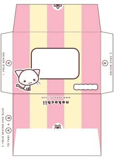 kawaii box template printable diy and crafts pinterest 1000 images about envelope printable on pinterest