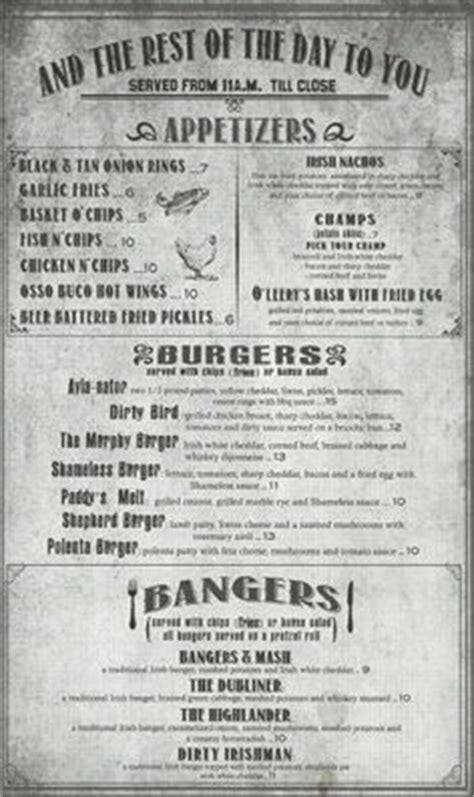grill menu retro flyer design template vintage poster