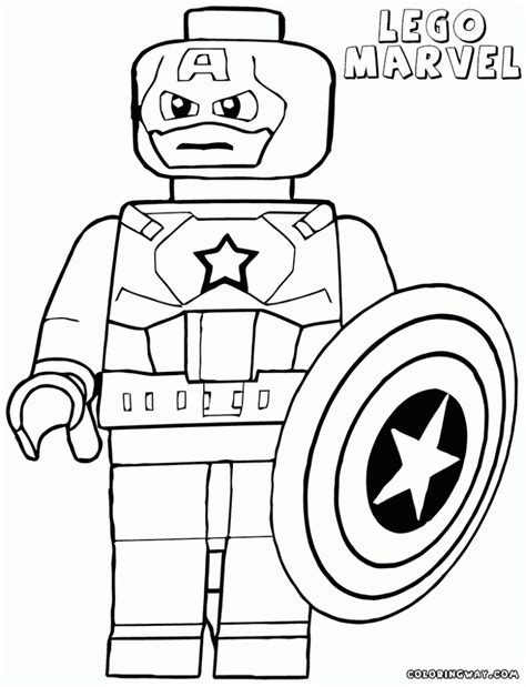 coloring pages lego captain america lego superheroes coloring pages printable lego marvel