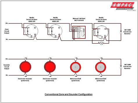 wiring diagram circuit  fire alarm system