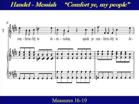 handel messiah comfort ye tenor handel messiah comfort ye my people score youtube