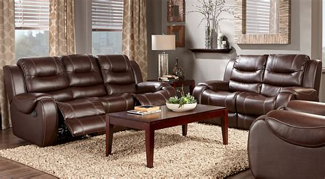 Brown Living Room Furniture Sets Baycliffe Brown 3 Pc Living Room Living Room Sets Brown