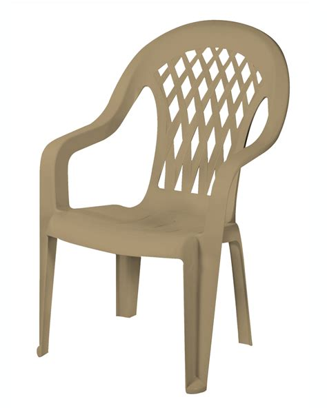 High Back Plastic Patio Chairs Gracious Living Lattice High Back Chair Sandstone Outdoor Living Patio Furniture Chairs