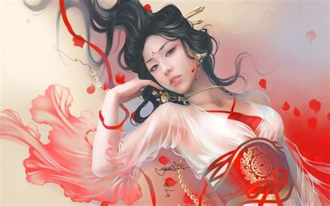 anime japanese girl wallpaper traditional chinese painting of beautiful women