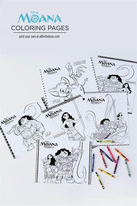 Moana Printables