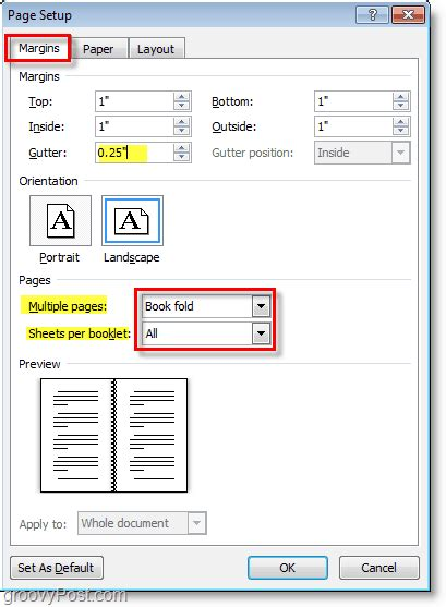 booklet layout pages mac how to create booklets using microsoft word 2010